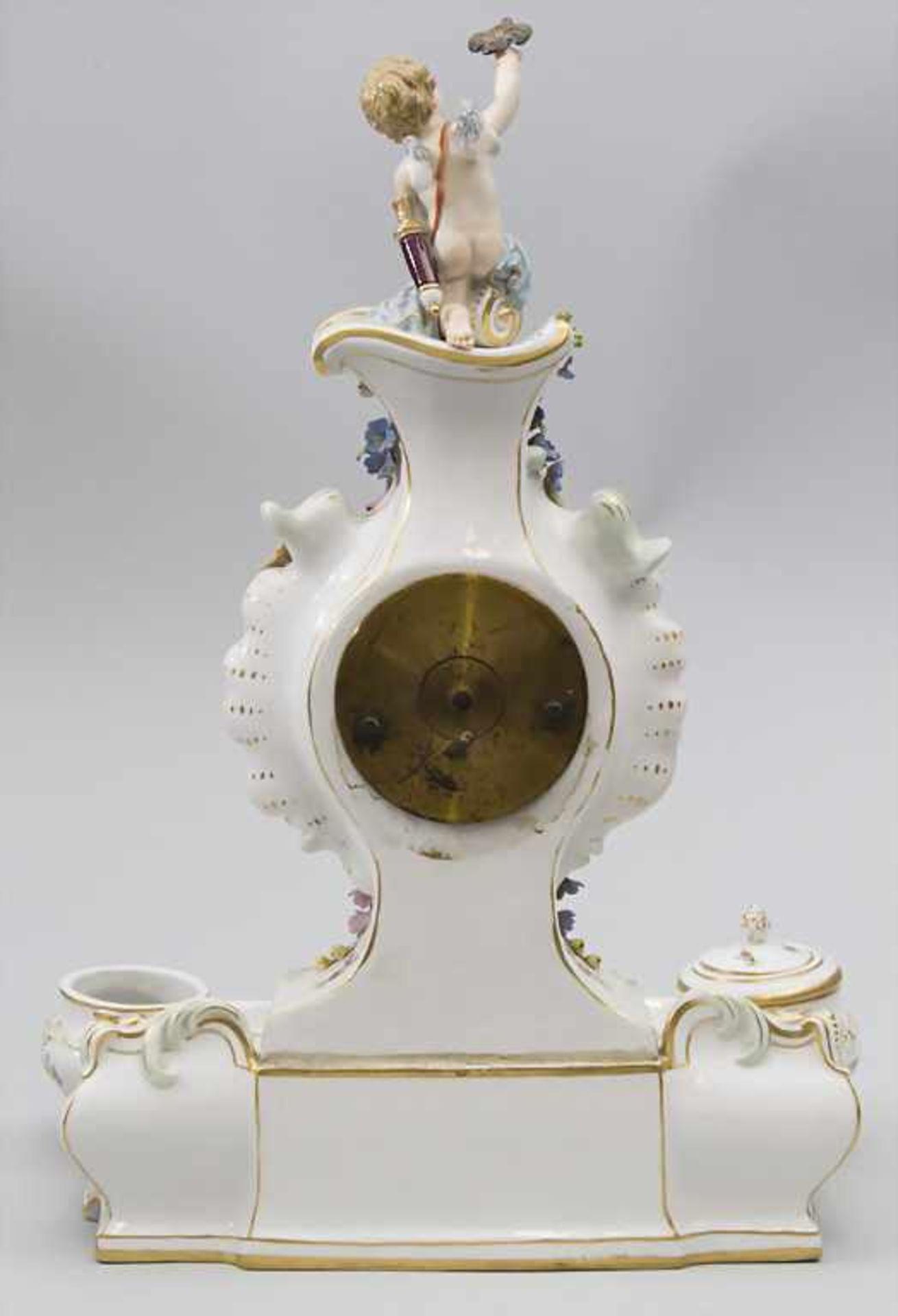 Seltene Tischuhr mit integriertem Schreibset / A rare porcelain table clock with integrated - Bild 15 aus 16