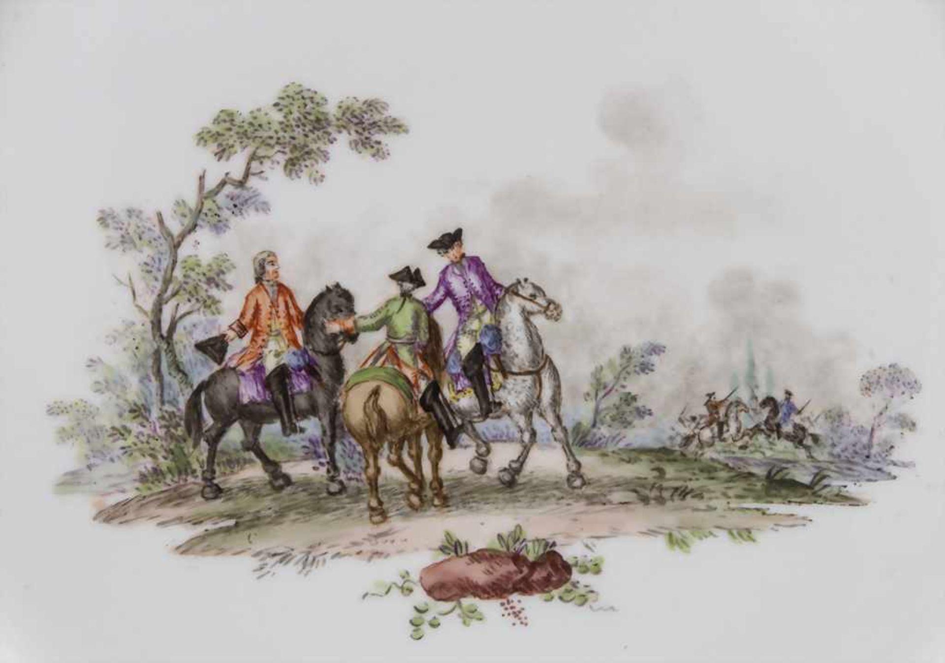 Paar Teller mit Schlachtenszenen / 2 plates with battle scenes, Sèvres, 1870 - Bild 6 aus 13