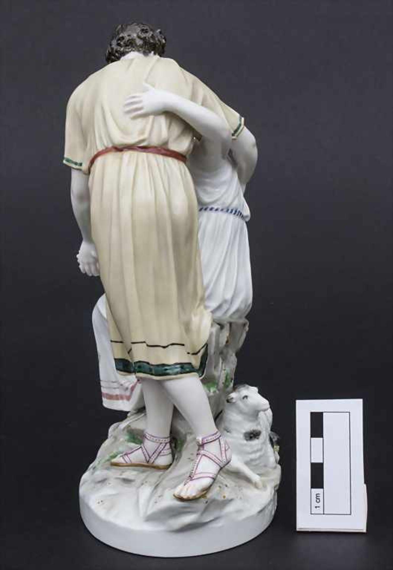 Jugendstil Darstellung 'Apollo und Isse' mit einem Schaf / An Art Nouveau figural group of 'Apollo - Bild 2 aus 9