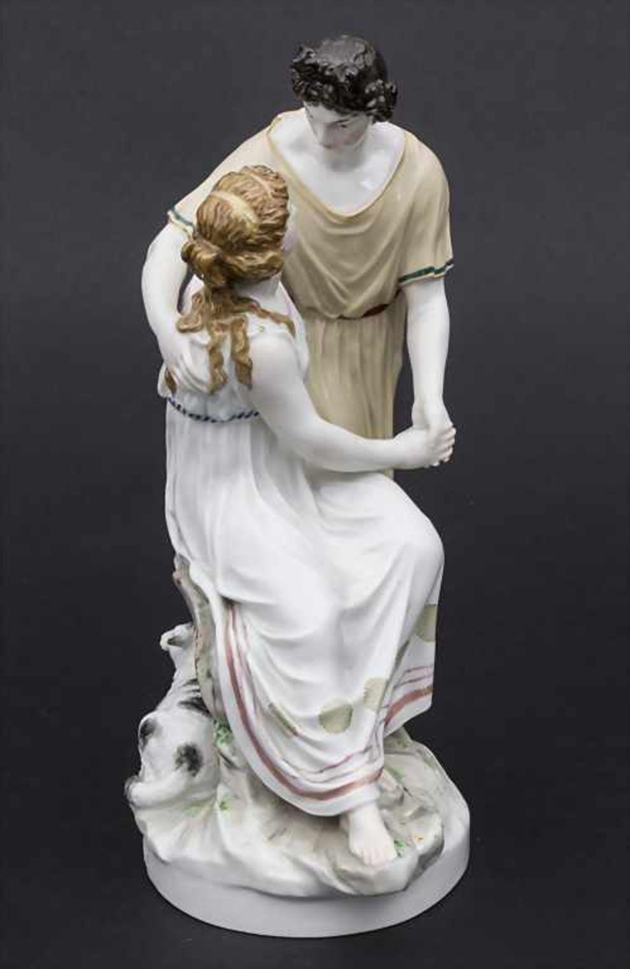 Jugendstil Darstellung 'Apollo und Isse' mit einem Schaf / An Art Nouveau figural group of 'Apollo - Bild 4 aus 9