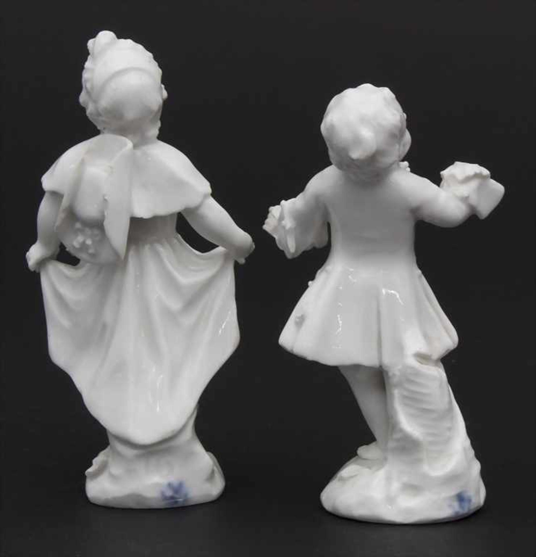 2 tanzende Kinder / A dancing boy and girl, wohl Michel Victor Acier, Meissen, um 1760 - Bild 2 aus 6
