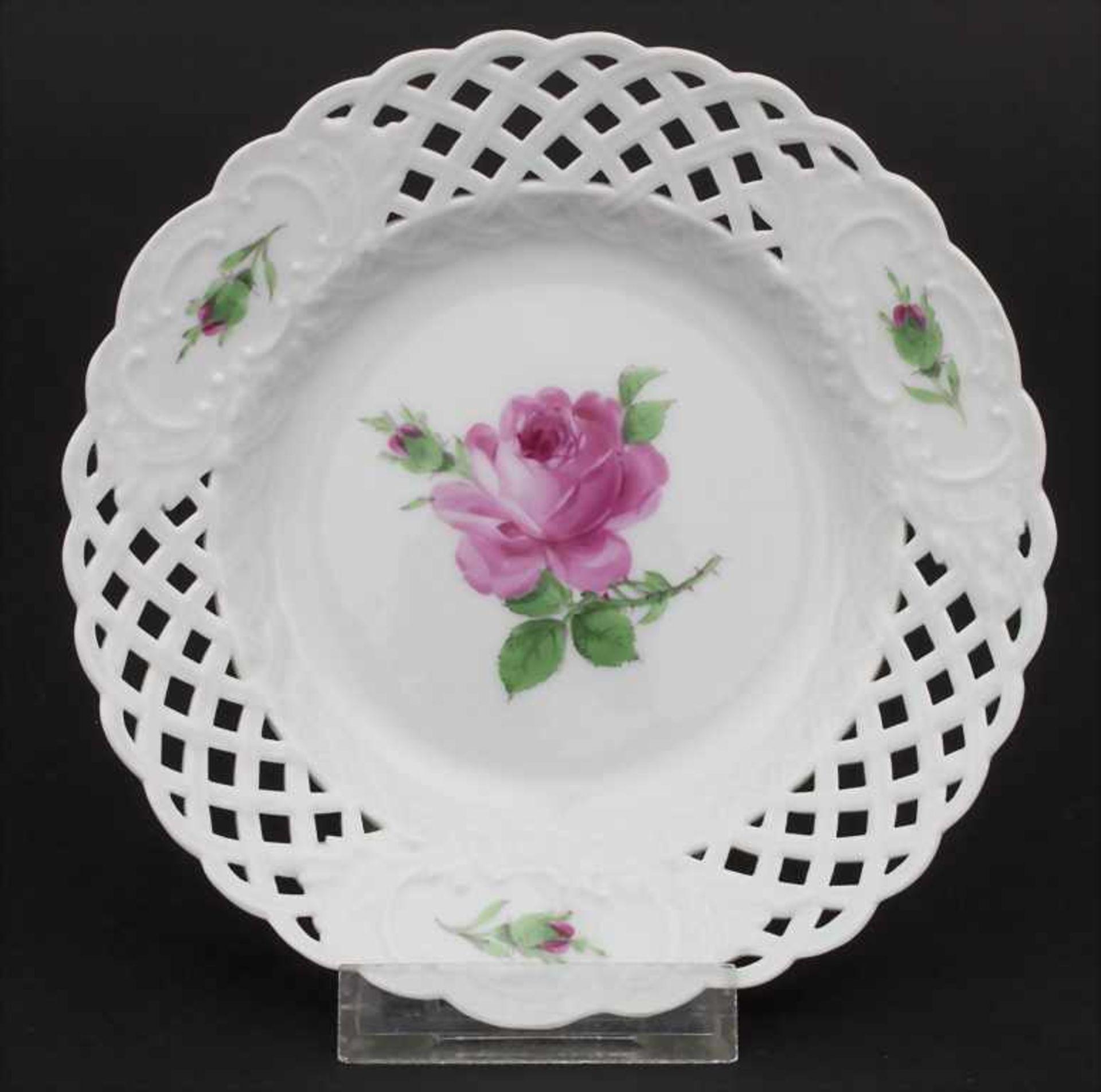 Konvolut Porzellane mit Rosendekor / A set of porcelain with roses, Meissen, 20. Jh. - Bild 10 aus 13