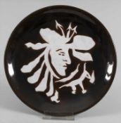Keramik-Künstlerteller, Jean Lurcat (Bruyeres 1892-1966 St.-Paul-de-Vence), Frankreich, um 1950/