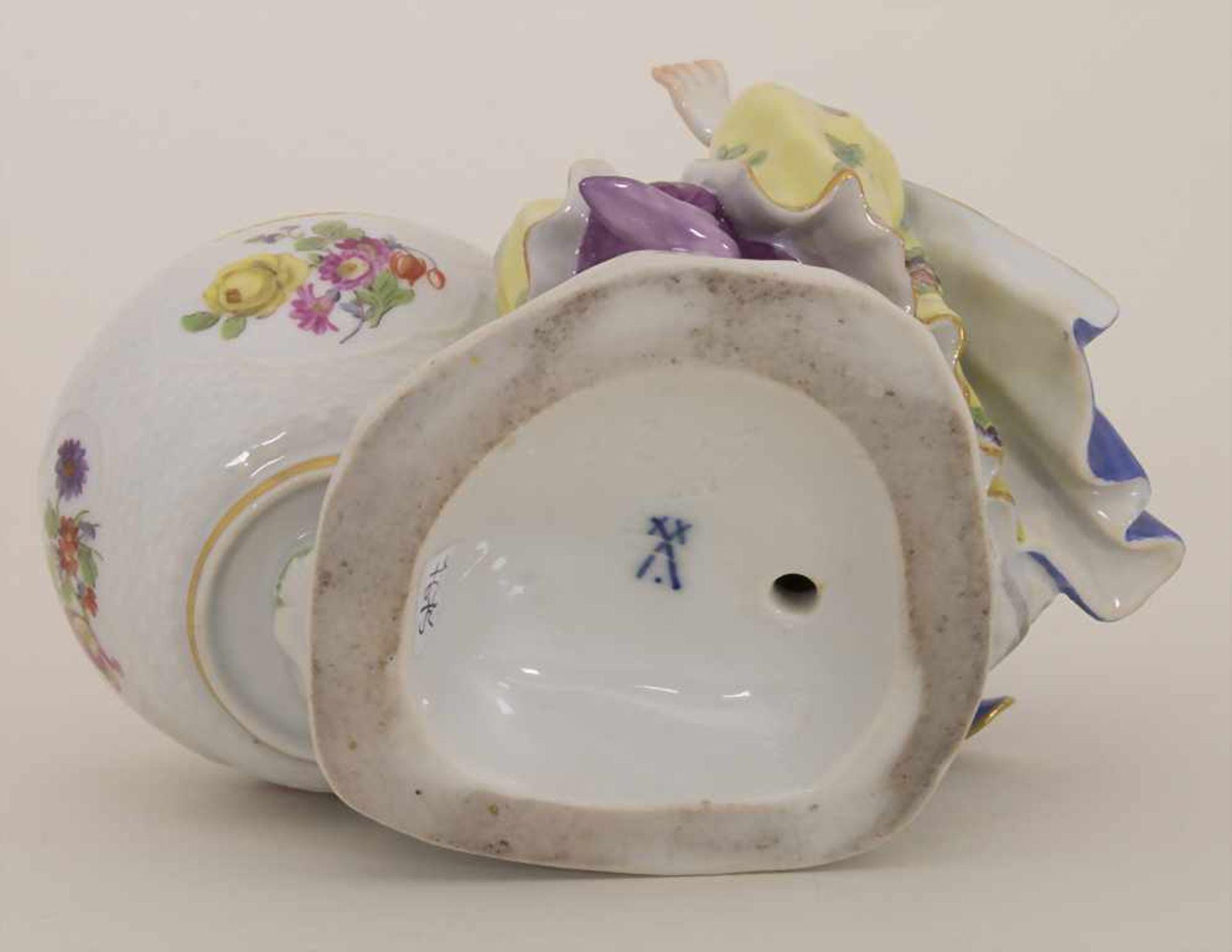 Gegenständige Figur einer Türkin mit Schale / A Turkish woman with a bowl, Meissen, Pfeiffer-Zeit, - Bild 9 aus 11