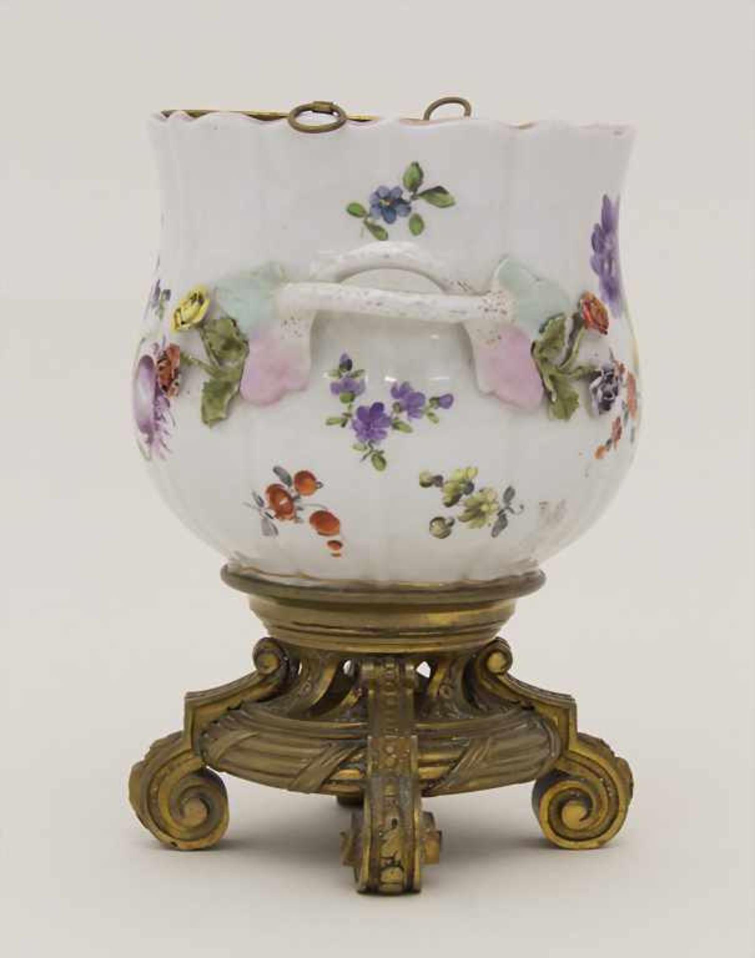 Cachepot mit Bronzemontur und Einsatz / A cachepot with bronze mount and insert, Helena Wolfsohn, - Bild 4 aus 8