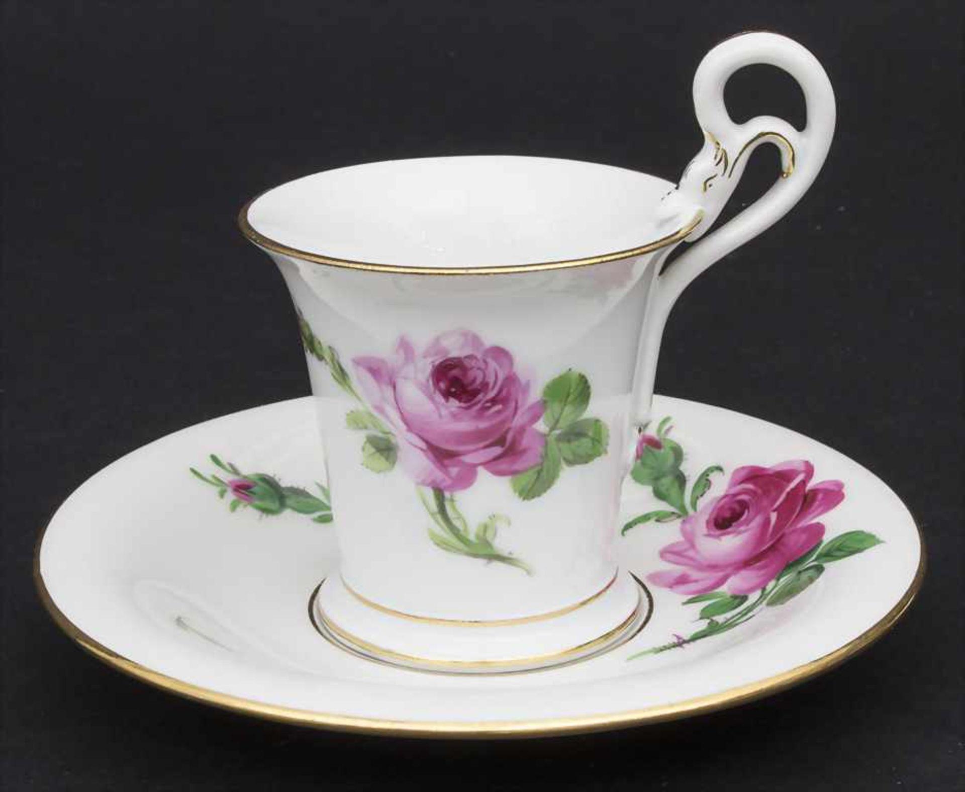 Konvolut Porzellane mit Rosendekor / A set of porcelain with roses, Meissen, 20. Jh. - Bild 2 aus 13