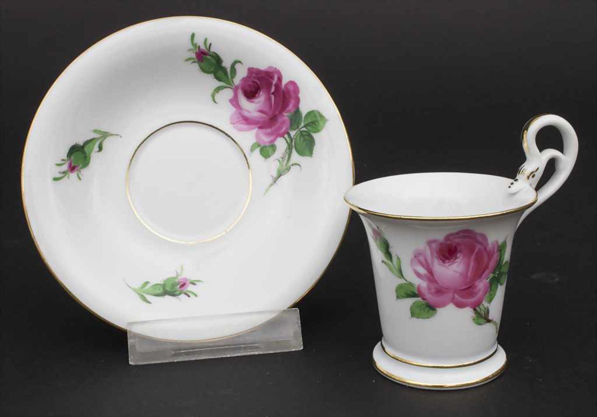 Konvolut Porzellane mit Rosendekor / A set of porcelain with roses, Meissen, 20. Jh. - Bild 8 aus 13