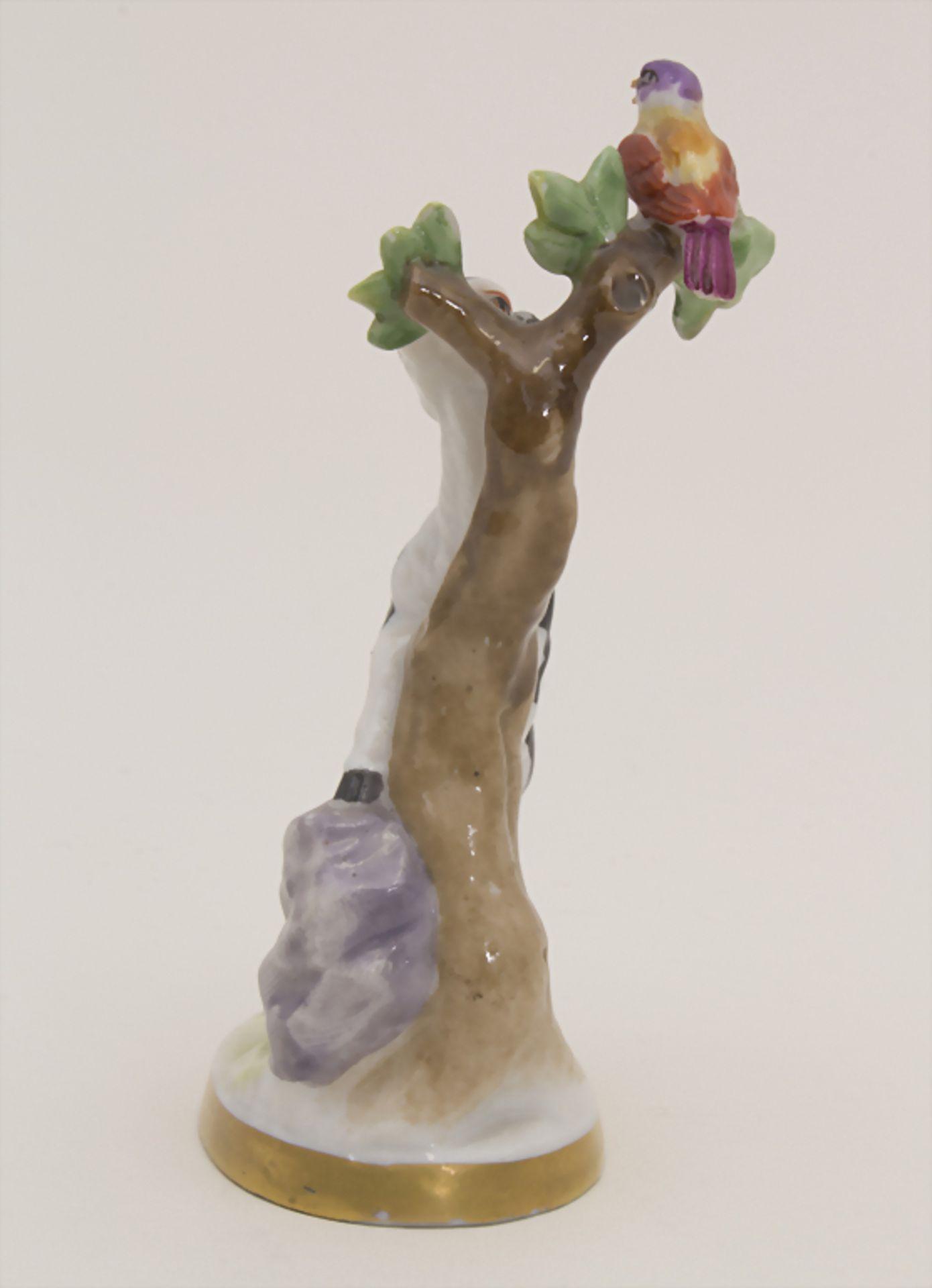 Miniaturfigur Zicklein mit Vogel / A miniature figurine of a kid with a bird, Müller & Co., - Bild 2 aus 5