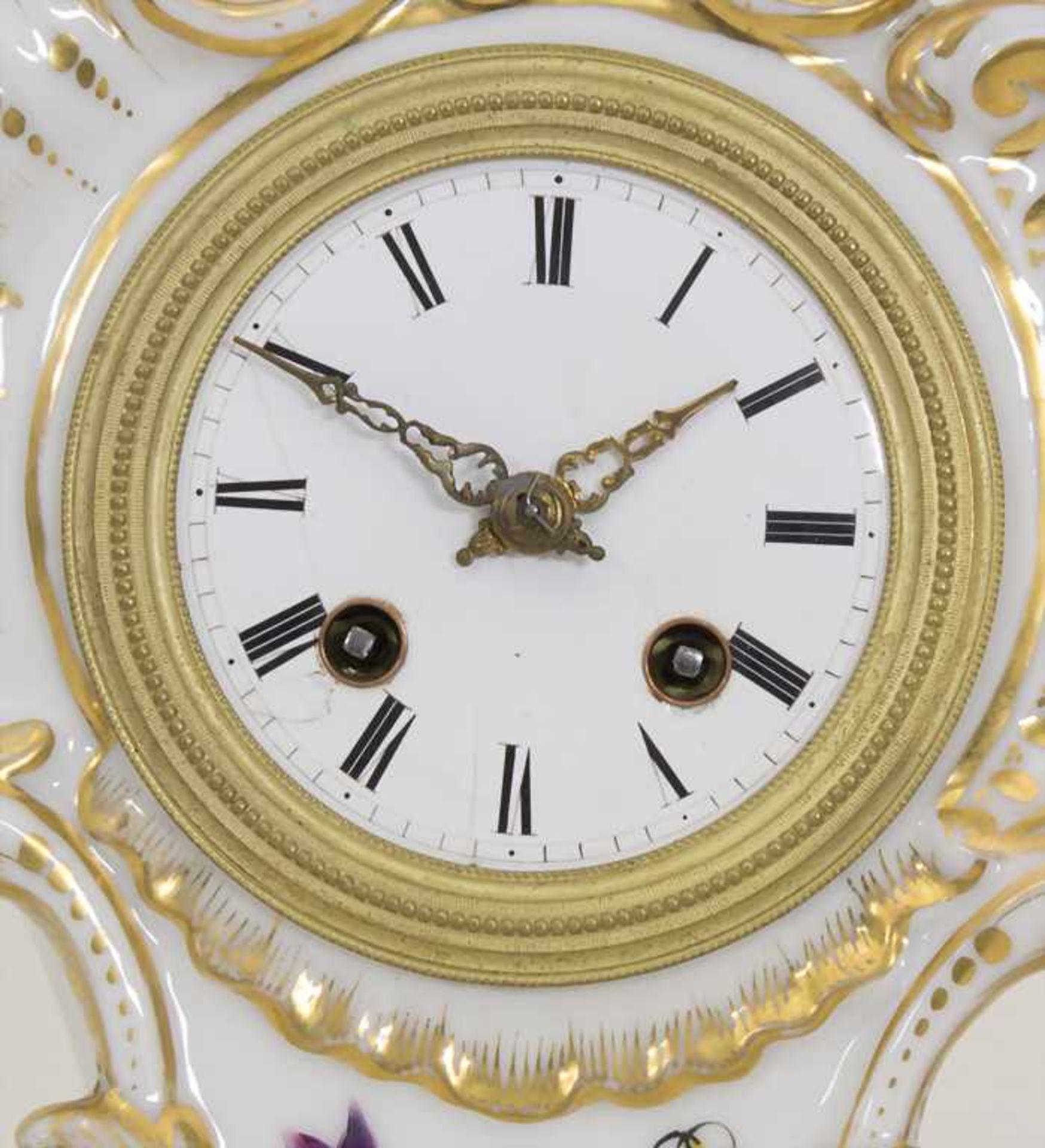Biedermeier Kaminuhr / A Biedermeier mantel clock, Frankreich, 19. Jh. - Bild 2 aus 9