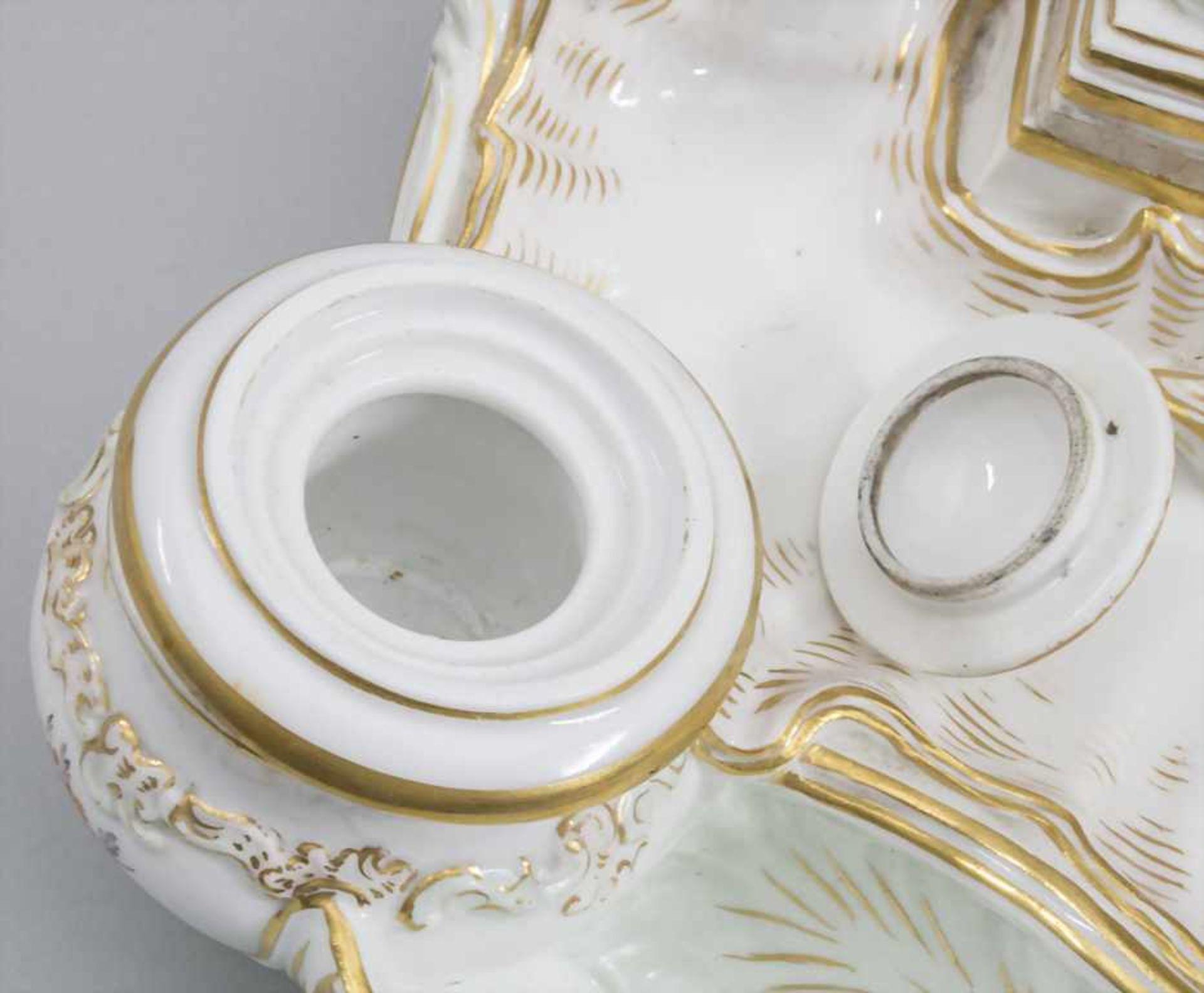 Seltene Tischuhr mit integriertem Schreibset / A rare porcelain table clock with integrated - Bild 9 aus 16
