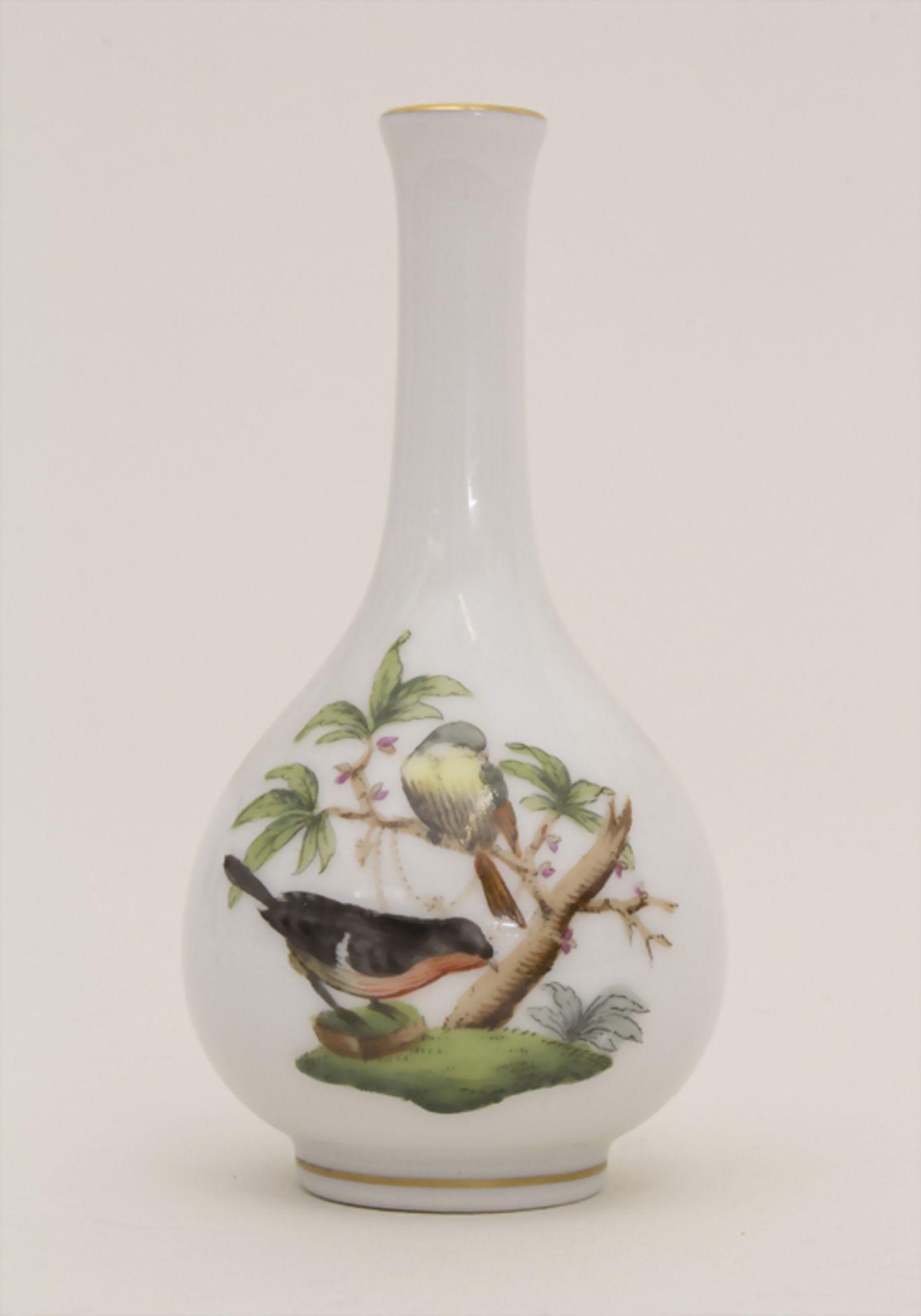 Miniatur Vase Rothschild / A miniature vase with birds, Herend, Mitte 20. Jh.