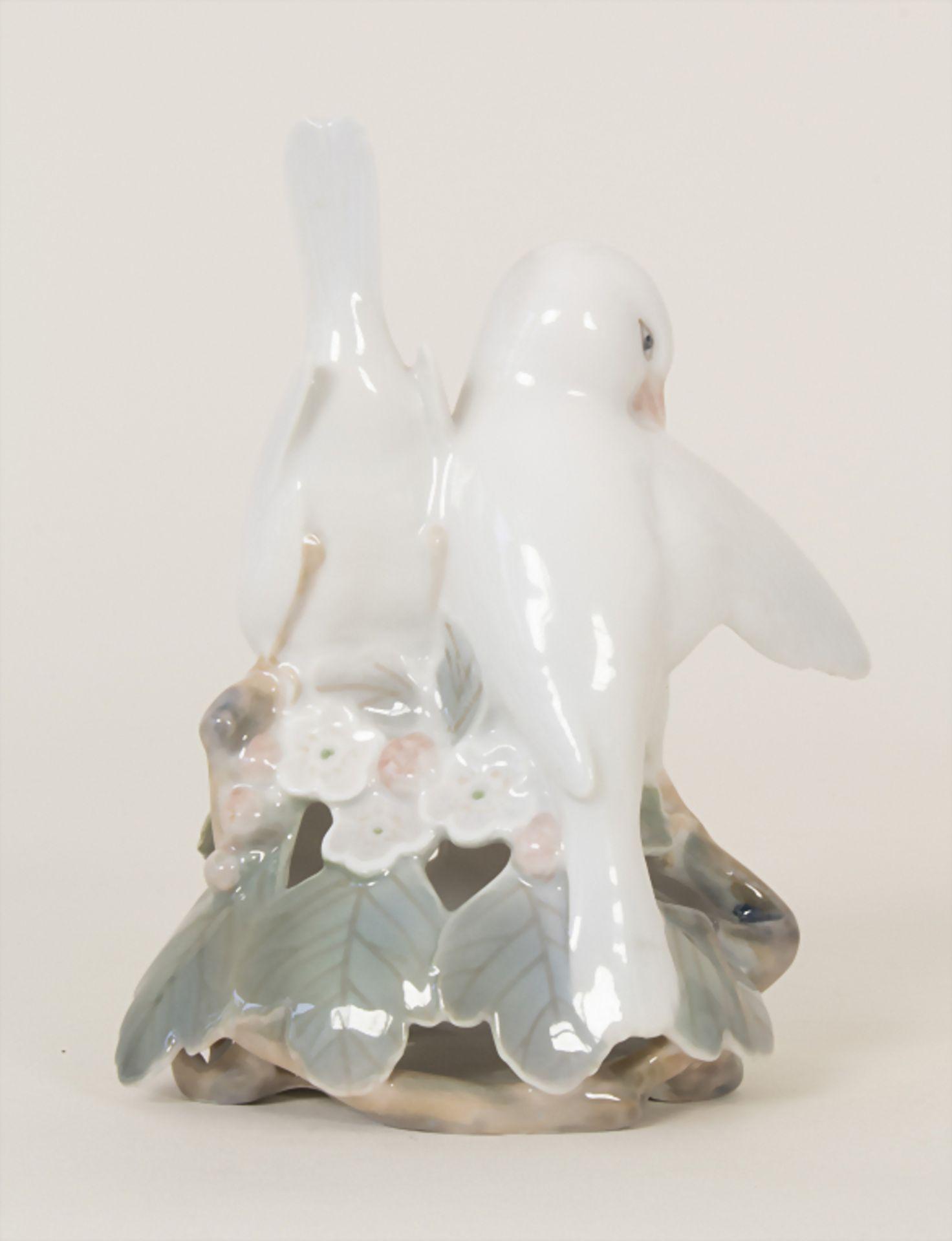 Turteltauben auf Kirschblütenzweig / A pair of doves, Royal Copenhagen, 1956 - Bild 3 aus 6
