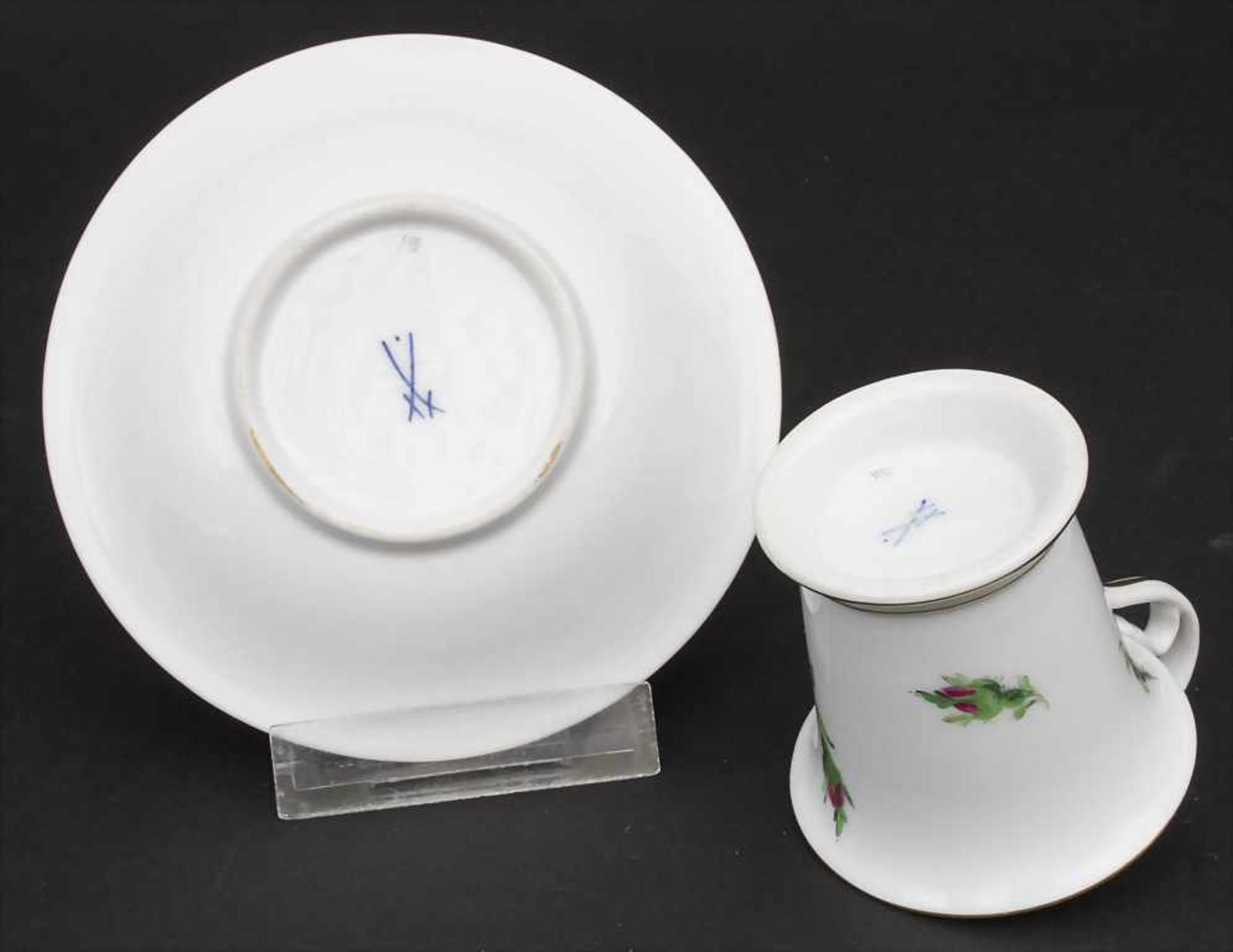 Konvolut Porzellane mit Rosendekor / A set of porcelain with roses, Meissen, 20. Jh. - Bild 9 aus 13