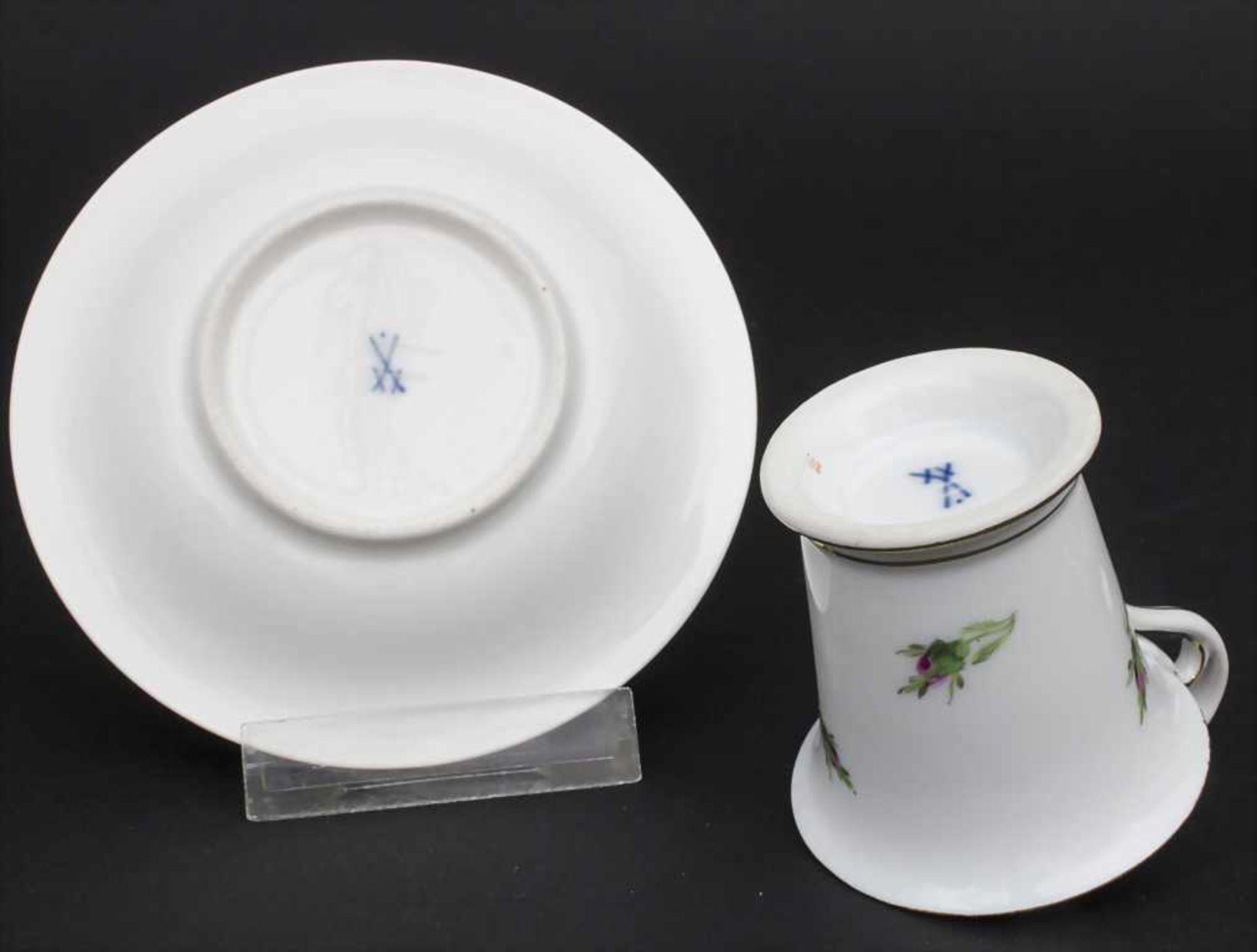 Konvolut Porzellane mit Rosendekor / A set of porcelain with roses, Meissen, 20. Jh. - Bild 7 aus 13