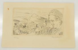 Harald Metzkes(Bautzen 1929 -, deutscher Maler u. Graphiker, Studium a. d. AK Dresden u. Berlin