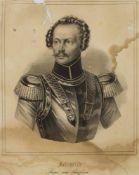 """Unbekannt(Stahlstecher des 19. Jh.)""""Friedrich, Prinz von Preussen""""Stahlstich, 31 x 25 cm, ungerahmt,"""
