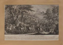 """Johann Elias Riedinger(Ulm 1698 - 1767 Augsburg, deutscher Tiermaler, Kupferstecher u. Radierer) """""""