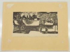Karl-Heinz Kuhn(Leipzig 1930 - 2001 Rostock, deutscher Figuren- u. Landschaftsmaler sowie
