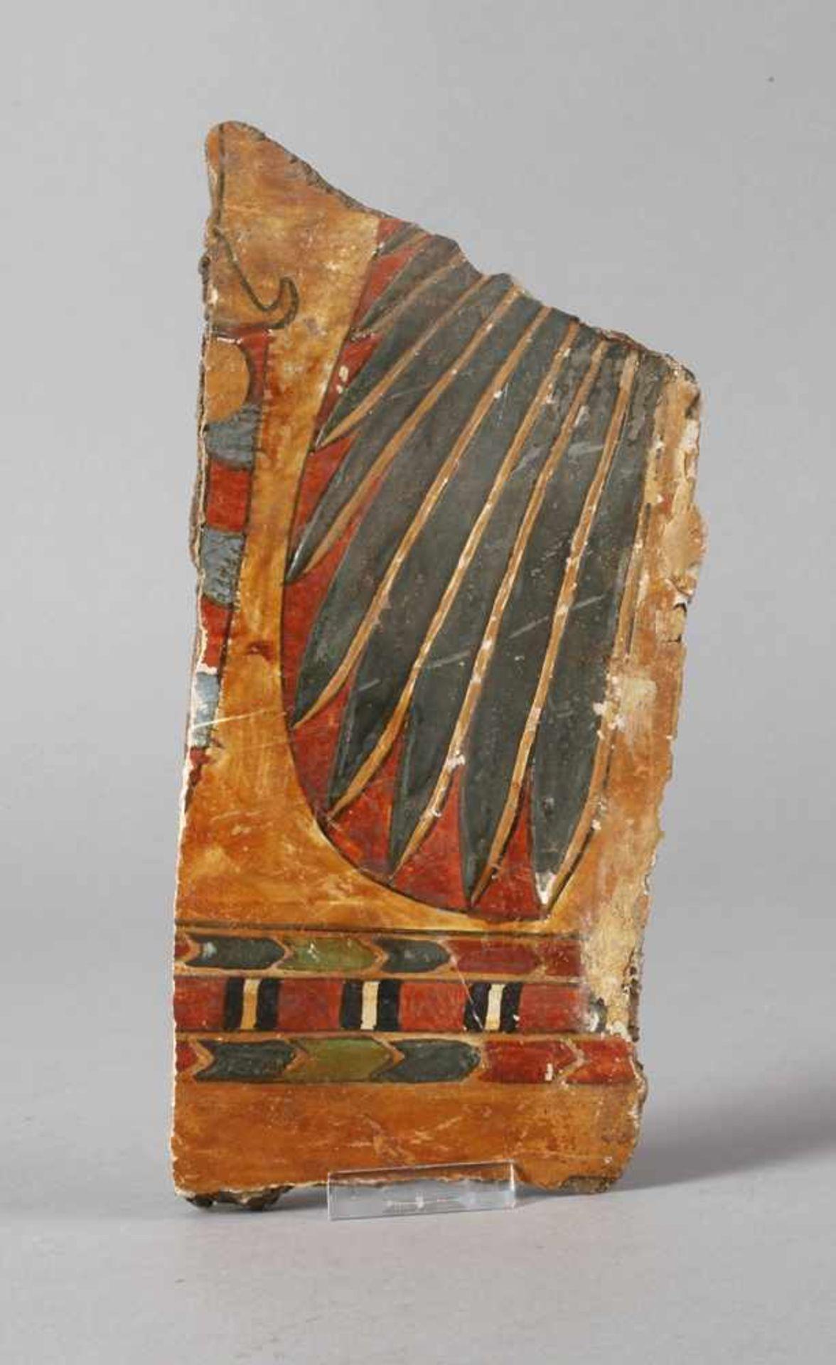 Fragment einer Mumienkartonage