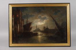 Ludwig Mecklenburg, Mondnacht in VenedigNocturne am Canal Grande, der seit dem Barock vornehmlich in