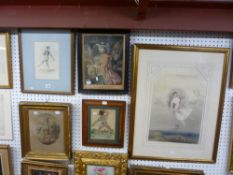 Five various framed antique prints comprising a stipple engraving after I. Northcote, 'Country