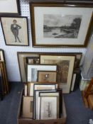 A selection of 24 various antique prints, including narrative subjects, caricatures, a B.W. Leader