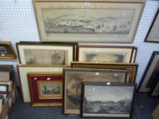 A collection of 16 various antique and collectors' engravings comprising mainly topographic,