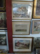 A.E. Nobbins, FRSA, a watercolour, 'Gorey Pier', signed with initials and dated '63, together with a