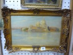 George Spencer Watson, RA, oils on board, 'S. Maria della Salute, Venice (from the artist's family)'