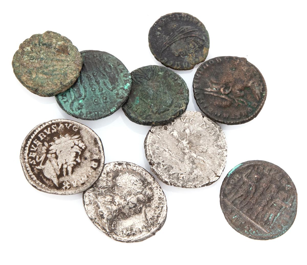 Lot 15 - NINE COINS ROMAN EMPIRE