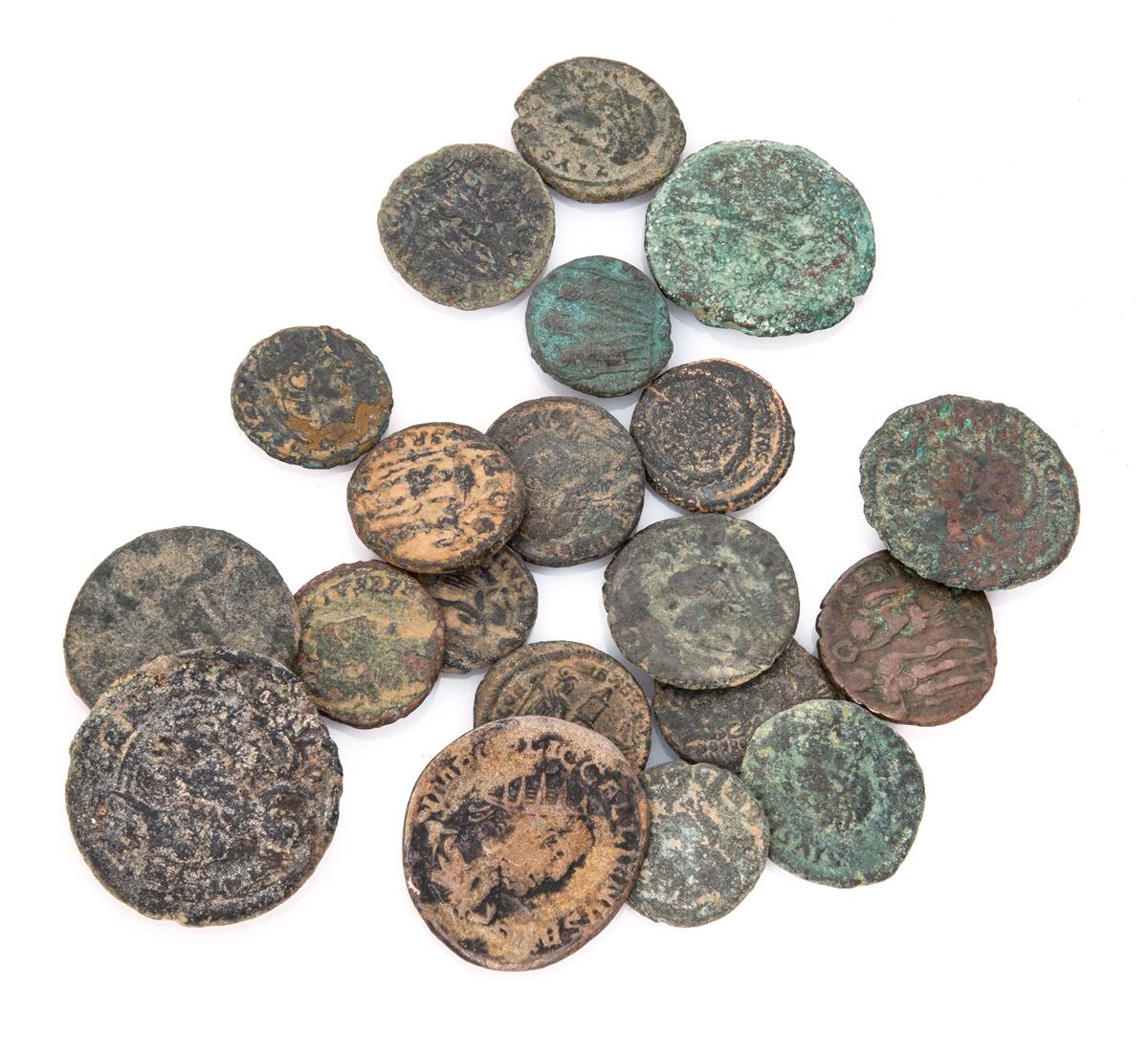 Lot 13 - TWENTY BRONZE COINS ROMAN EMPIRE