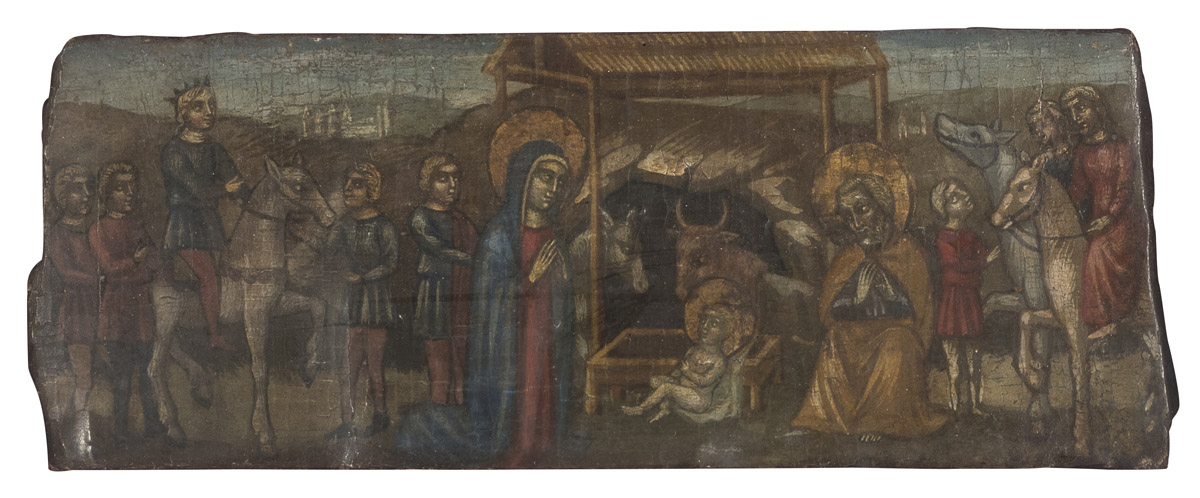 Lot 11 - FIFTEENTH CENTURY MANNER PAINTER LATE 19th CENTURY