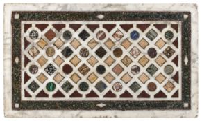 TABLE TOP OF INLAID MARBLES PROBABLY ROMAN MANUFACTURE 19th CENTURY