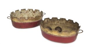 PAIR OF TIN CASSOLETTES EARLY 19th CENTURY