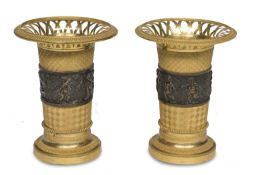 PAIR OF BRONZE VASES EARLY 19th CENTURY