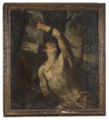 OIL PAINTING OF SAINT SEBASTIAN BY THE SCHOOL OF ANNIBALE CARRACCI