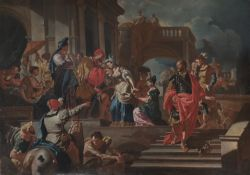 OIL PAINTING OF SOLOMON FROM THE WORKSHOP OF FRANCESCO SOLIMENA