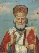 RUSSIAN ICON OF SAINT NICHOLAS LATE 19TH CENTURY