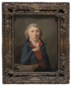 NEOCLASSIC FRENCH OIL PAINTING OF A YOUNG ARCHITECT
