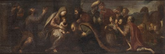 A PAIR OF OIL PAINTIGNS OF BIBLICAL SCENES BY PASQUALINO ROSSI