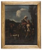 OIL PAINTING OF HARVEST OR AUTUMN 17TH CENTURY