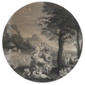 ENGRAVING OF SPRING ALLEGORY AFTER MOMS 19TH CENTURY