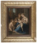 CENTRAL ITALY OIL PAINTING OF OUR LADY OF DIVINE LOVE AFTER RAFFAELLO LATE 16TH CENTURY