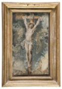 FLEMISH OIL PAINTING ON IVORY OF CHRIST 18TH CENTURY