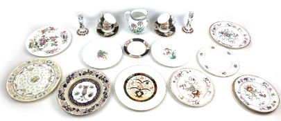 A collection of various British porcelain including six Fenton cups and saucers and a teaplate, a