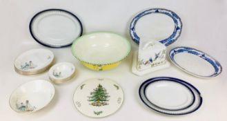 A group of vintage ceramics, comprising Swinnertons part dinner service, of six dinner plates, six