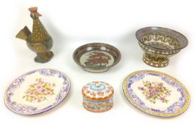 A group of six pieces of 20th century European ceramics, including a Jean Gerbino (1876-1966)
