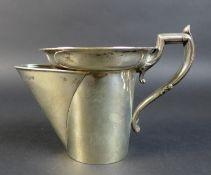 A Edward VII silver shaving mug, with shaped foliate clasped handle, John Round & Son Ltd (Joseph