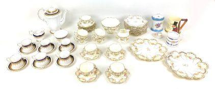 A Paragon 'Stirling' pattern coffee set, comprising coffee pot, milk jug, sugar bowl, six coffee
