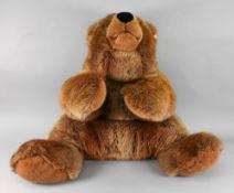 Steiff; a large brown bear, 80cm long, t
